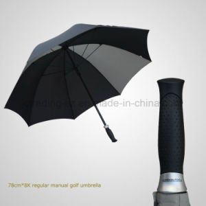 Straight Manual Golf Umbrella Windproof Rainshade pictures & photos