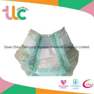 Cotton Disposable Baby Diapers with Full Surround Elastic Waist Band pictures & photos