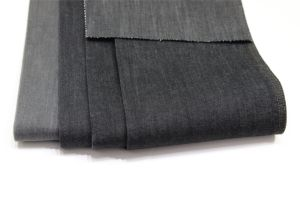 Cotton Polyester Rayon Black Denim pictures & photos