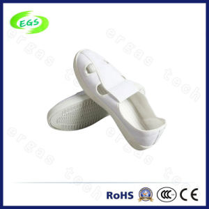 Blue Cotton Canvas Antistatic Shoes with PU Sole Four Hole Antistatic Shoes pictures & photos