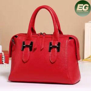 Evergreen Factory New Design Double Zip Genuine Leather Ladies Handbags Emg4804 pictures & photos
