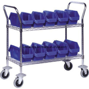 NSF Metal Utility Cart Metal Service Trolley for Hospital pictures & photos