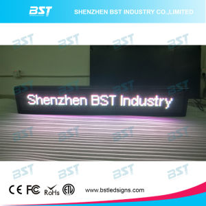 Programmable Semi-Outdoor White Color LED Moving Sign (P10mm) pictures & photos