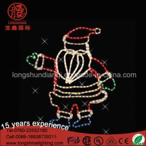 New LED Christmas Garden Decoration Santa Claus Rope Light Motif Decorative Light pictures & photos