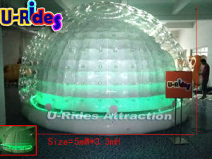 5m LED light clear Inflatable Bubble Tent as booth for events pictures & photos