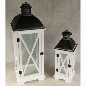 Wooden&Metal Glass Indoor Antique Garden Candle Lantern pictures & photos