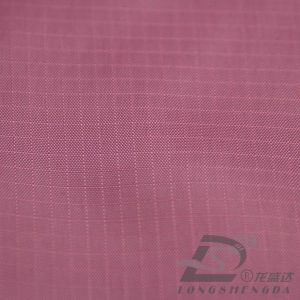 68d 185t Woven Polyester Taffeta Plaid Jacquard Polyester Fabric (63065) pictures & photos