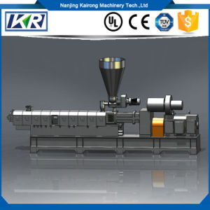 (Co-Rotating) Parallel Twin-Screw Plastic Granule Extrusion Machine/Plastic Nylon Fabric Making Machine of Double Screw Extruder pictures & photos