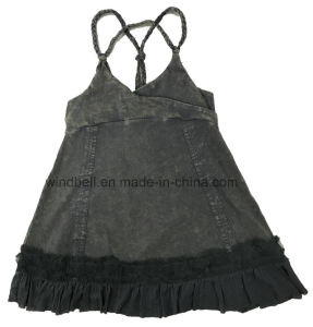 Fashionable Dress for Girl with Woven Hem pictures & photos