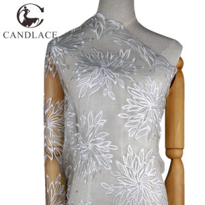 White Color Hand Embroidery Lace Design for Blouses pictures & photos