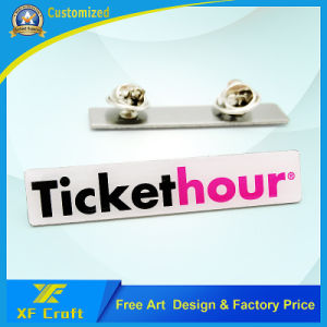 100% Factory Price Custom Epoxy Stainless Steel Metal Lapel Pin with Deluxe Clutch (XF-BG36) pictures & photos
