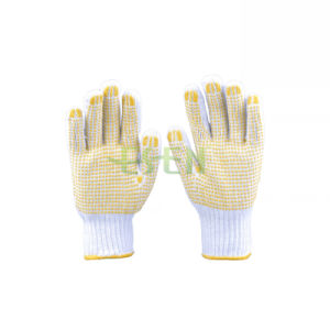 PVC Dotted Working Glove/Safety Working Gloves PVC Coated Work Gloves pictures & photos