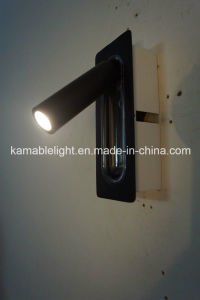 Hotel Project Room Aluminum Rotatable Groove LED Wall Lamp (KM-01) pictures & photos