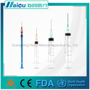 Sterile Syringe with Needle 21g pictures & photos
