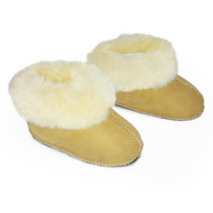 Double Face Australia Merino Sheepskin Warm Winter Baby Shoes pictures & photos