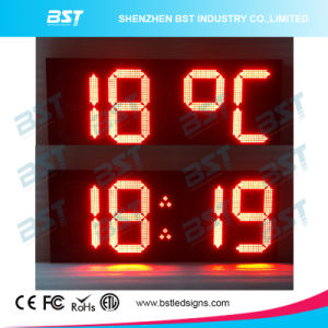 Indoor/ Outdoor High Brightness Large LED Temperature / Time Sign pictures & photos