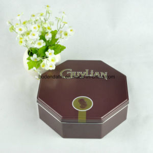 Custom Metal Chocolate Packaging Tin Box with Octagonal Shape pictures & photos