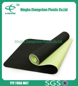 TPE Exercise Yoga Mat with Solid Color Eco Friendly TPE Yoga Mat pictures & photos
