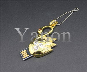 Swan Crystal USB Flash Disk Diamond USB Flash Drive pictures & photos