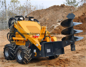 Earthmoving Machinery Mini Skid Steer Loader with Road Sweeper pictures & photos