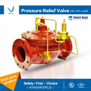 Singer Pilot Operated Diaphragm Control Valves UL FM Pressure Relief Valve pictures & photos