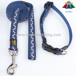 Hot-Sale High-Quality Solid Color Lovely Style 15mm Polyester/Nylon/Cotton Leash & Adjustable Collar pictures & photos