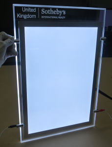 Ceiling Hanging LED Advertising Light Box with Crystal Photo Frame and Etching Logo pictures & photos