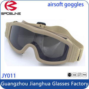 Three Colors Outdoor Sports Military Tactical Goggles UV400 Protection Shatter Resistant pictures & photos