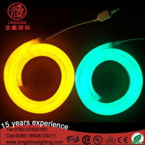 12V LED 120LEDs/M Milky White Jacket Warm White Neon Rope Flexible Light Strip for Buliding Decoration pictures & photos