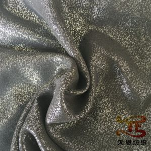 Gold Stamping Garment Fabric Polyester Foiling Fabric for Women Dress pictures & photos