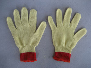 7g Five Aramid Yarn Steel Wire Cut Resistance Knitted Glove-2316 pictures & photos
