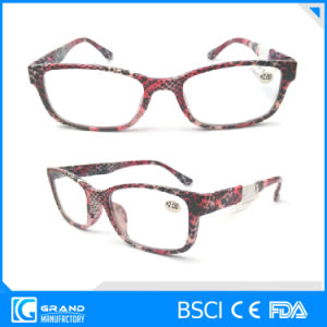 2017 Newest Plastic Eyewear Snake Zebra Clear Reading Glasses pictures & photos