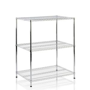 Wholesale 3 Tiers Heavy Duty Steel Chrome Wire Shelving Factory pictures & photos