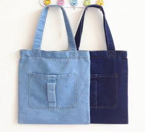Promotion Portable Demin Shopping Handbags