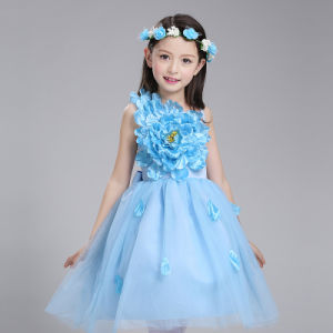 Custom The Little Princess Skirt Any Color 100% Polyester Princess Wedding Dress pictures & photos