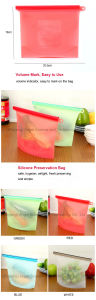 Eco-Friendly Vacuum Airtight Silicone Food Storage Bag Sfb16 pictures & photos