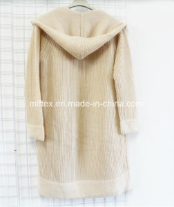 Hooded Long Sleeve Coat for Women pictures & photos