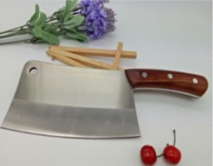 High Quality Wooden Handle Chinese Chef Knife pictures & photos
