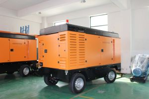 55kw Mobile Electric Screw Air Compressor for Line Washing pictures & photos