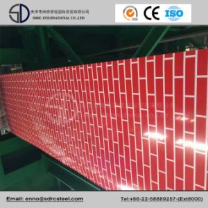 Brick Pattern Steel Coil Wood Grain Coating PPGI pictures & photos