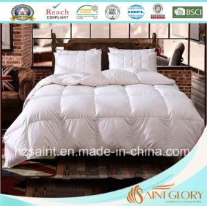 100% Cotton Fabric Down Duvet White Goose Feather and Down Blanket pictures & photos