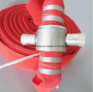 """2.5""""*30m Red Rubber/PVC/PU/TPU Fire Hose with British Coupling pictures & photos"""