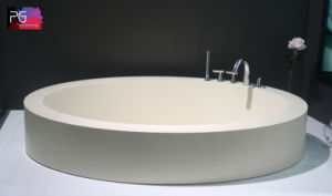Luxuries Resin Stone Semi Recessed Bathtub for Dubai pictures & photos