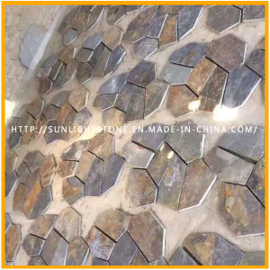 Exterior Natural Stone Pavement Rustic/Rusty Slate Flagstone pictures & photos