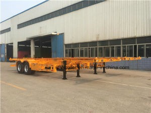 2 Axles Skeleton Container Chassis Trailer pictures & photos