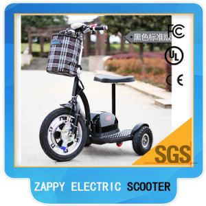 48V 500W Mobility Three Wheel Scooter Folding Electric Zappy Vehicles for Disabled pictures & photos