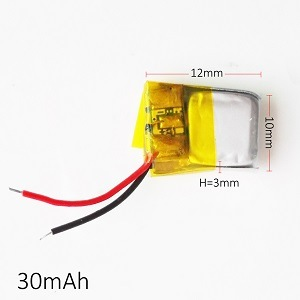 3.7V 30mAh Lithium Polymer Li-ion Rechargeable Battery Lipo Battery for MP3 MP4 Pad DVD DIY Bluetooth Headephone 301012 pictures & photos