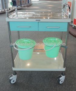 AG-Mt035 Two Drawers Color Optional Medical Trolley for Nurse pictures & photos