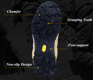 Tactical Slip-Resistant Military Boots Outdoor Footwear Sports Shoes Hiking Sneaker pictures & photos