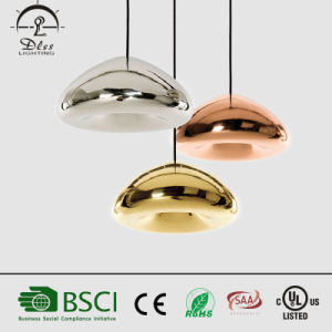 Modern Design Mushroom Shape Glass & Iron Pendant Lamp for Interior Decoration Lighting pictures & photos